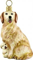 Golden Retriever Mother w/Puppy Dog Ornament