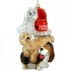 Treat Conspiracy Dog Ornament
