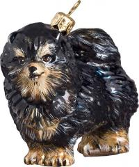 Pomeranian (Black/Tan) Dog Ornament