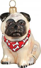 Pug (Fawn) with Bandana Dog Ornament