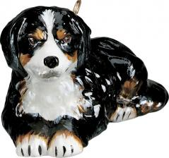 Bernese Mountain Dog Glass Dog Ornament