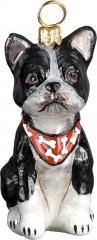 Boston Terrier w/Bandana Dog Ornament
