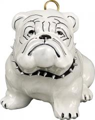Bulldog w/Studded Collar Dog Ornament