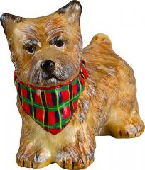 Cairn Terrier w/ Bandana Dog Ornament