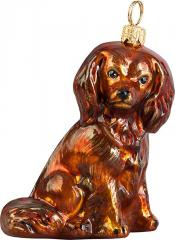 Cavalier King Charles Spaniel (Ruby) Dog Ornament