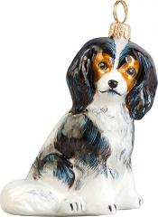 Cavalier King Charles Spaniel (Tri) Dog Ornament