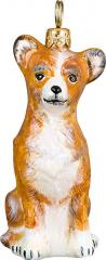 Chihuahua (Tan/White) Glass Dog Ornament