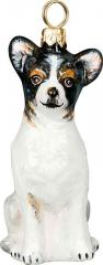 Chihuahua (Tri) Glass Dog Ornament