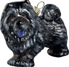 Chow Chow (Black) Dog Ornament