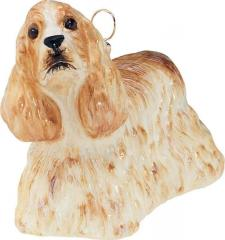 Cocker Spaniel (Blonde) Dog Ornament