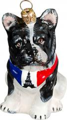 French Bulldog (Bandana) Dog Ornament