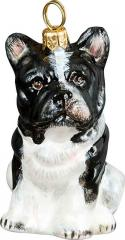 French Bulldog (Black & White) Dog Ornament