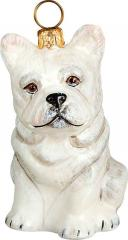 French Bulldog (White) Dog Ornament