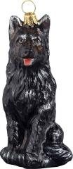 German Shepherd (Black) Dog Ornament