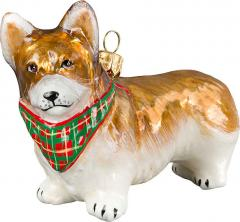 Pembroke Welsh Corgi (Bandana) Dog Ornament
