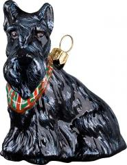 Scottish Terrier w/Bandana Dog Ornament