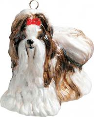 Shih Tzu (Brown/White) Dog Ornament
