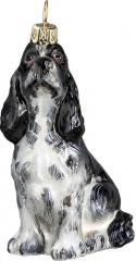 Springer Spaniel (Black/White) Dog Ornament