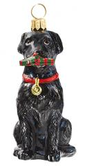 Black Lab with Slipper Dog Ornament
