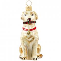 Yellow Lab with Slipper Dog Ornament