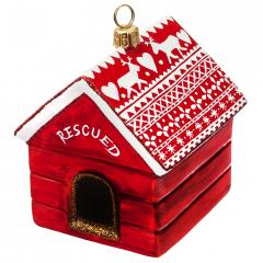 Rescued Dog House Ornament