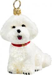 Bichon Frise Snowy Version Dog Ornament