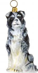 Border Collie Snowy Version Ornament