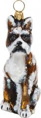 Boxer Snowy Version Dog Ornament