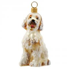 Goldendoodle (Snowy) Dog Ornament
