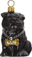 Pug (Black) Rapper Ornament