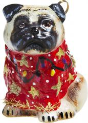 Pug in Ugly Christmas Sweater