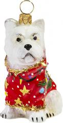 Westie Ugly Christmas Sweater Ornament