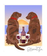 Labrador Retrievers - Chocolate - Sunset Dogs