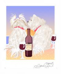 Maltese Sunset Dogs