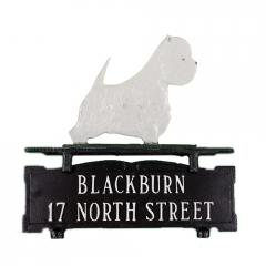 West Highland Terrier Mailbox Sign