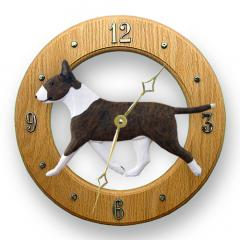 Bull Terrier Dog Wall Clock