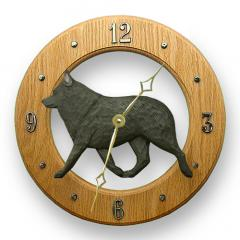 Schipperke Dog Wall Clock