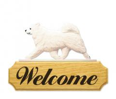Samoyed Dog Welcome Sign