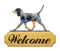 Bluetick Coonhound Welcome Sign