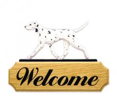 Dalmatian Welcome Sign - Black/White