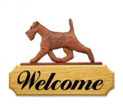 Irish Terrier Dog Welcome Sign