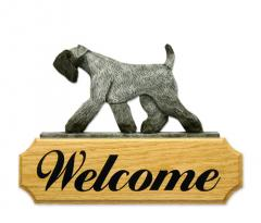 Kerry Blue Terrier Dog Welcome Sign