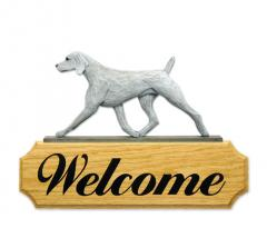 Weimaraner Dog Breed Welcome Sign