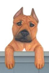 Amstaff Terrier Door Topper