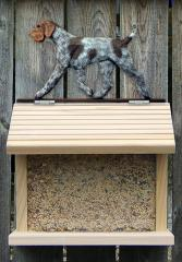 German Wirehaired Pointer Bird Feeder