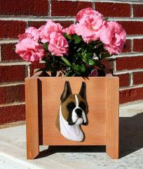 Boxer Dog Garden Planter - Fawn