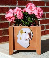 Clumber Spaniel Garden Planter - Orange