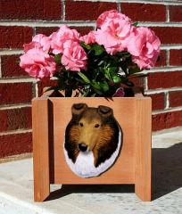 Collie Garden Planter - Sable