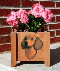 Dachshund Dog Garden Planter - Red