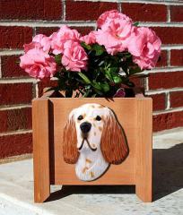 English Setter Garden Planter - Orange Belton